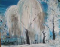 Schilderij winterlandschap