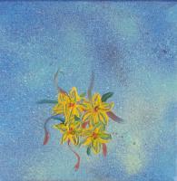 speciaal effect gele bloemetjes