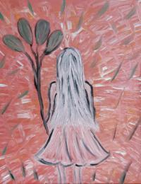 schilderij white angel
