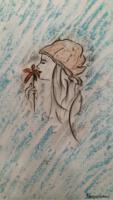 illustratie vrouw bloem